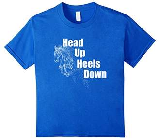 Head Up Heels Down Horse Rider T Shirt