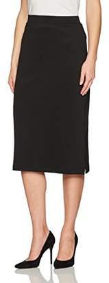 Kasper Women's Midi Slim Skirt With Side Slits