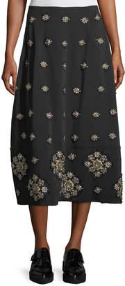 Elizabeth and James Lottie Embellished Midi A-Line Skirt