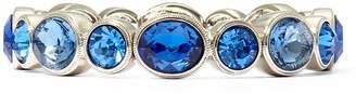 JCPenney MONET JEWELRY Monet Silver-Tone Blue Stones Stretch Bracelet