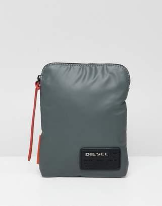 Diesel crossbody flight bag with logo patch
