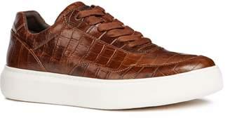 Geox Deiven 8 Croc Textured Low Top Sneaker