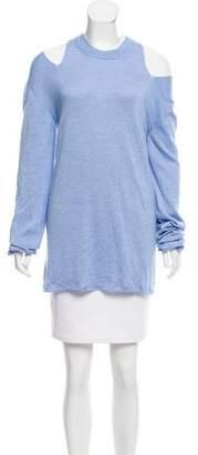 Jonathan Cohen Cold-Shoulder Cashmere Sweater