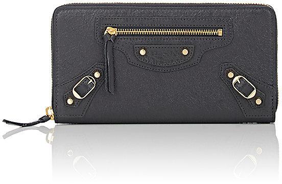 Balenciaga Balenciaga Women's Classic Zip-Around Continental Wallet-Grey