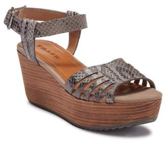 Trask Helen Leather & Suede Platform Wedge Sandal xzoIs