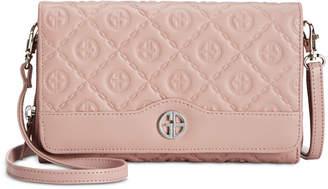 Giani Bernini Logo Embossed Crossbody Wallet