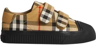 Burberry Vintage Check touch-strap sneakers
