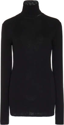 Tibi Ribbed Fitted Wool Turtleneck Sweater