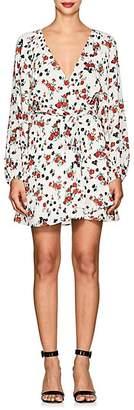 A.L.C. Women's Carlo Floral Silk Tie-Waist Dress - White Size 6