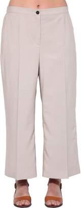 Marina Rinaldi Cropped Viscose Twill Pants