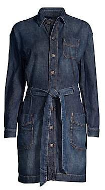 9b4369abe3a196 Polo Ralph Lauren Women s Casual A-Line Tie-Waist Denim Shirt Dress