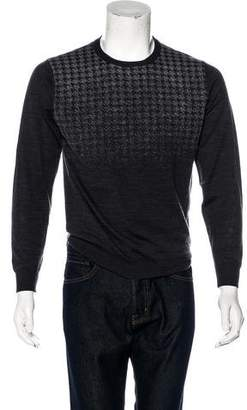 Canali Gradient Houndstooth Wool Sweater