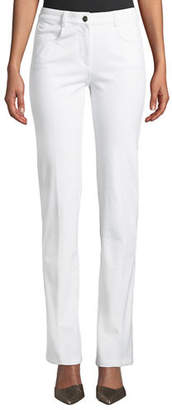 Escada Mid-Rise Narrow Straight-Leg Jeans