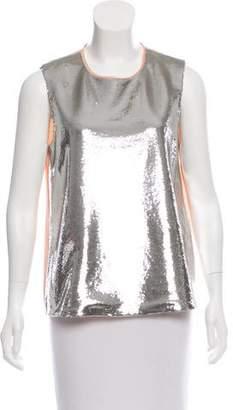 Diane von Furstenberg Sleeveless Sequin Top w/ Tags