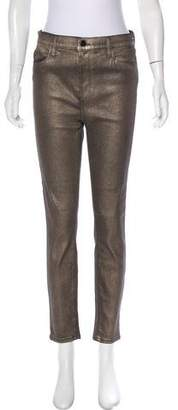 J Brand Metallic High-Rise Jeans w/ Tags