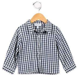 Baby CZ Boys' Gingham Button-Up Shirt