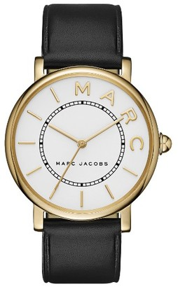 Women's Marc Jacobs Roxy Leather Strap Watch, 36Mm