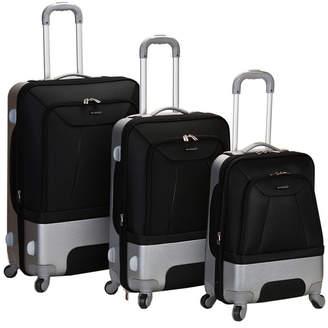 Rockland Rome 3-Piece Hybrid Eva or Abs Luggage Set