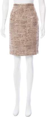 Herve Leger Knee-Length Tweed Skirt