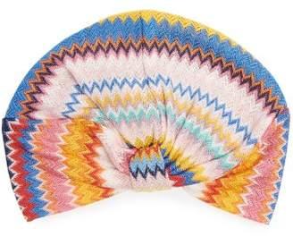 Missoni Mare - Zigzag Knitted Turban Hat - Womens - Rainbow