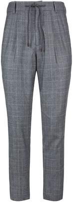 Brunello Cucinelli Checked Drawstring Trousers