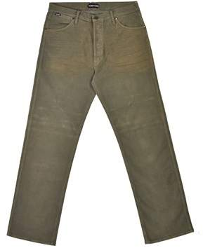 Tom Ford Mens Light Olive Green Cotton Loose Fit Jeans