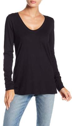 Susina Long Sleeve Scoop Neck Tee (Regular & Petite)