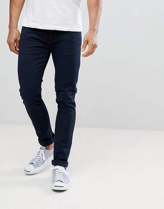 Farah Drake Twill Slim Fit Jeans in Navy