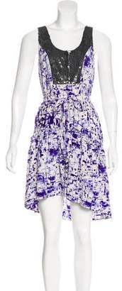 Gryphon Sleeveless Silk Dress