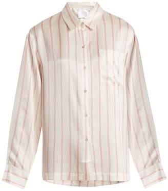 ASCENO Patch-pocket striped pyjama shirt