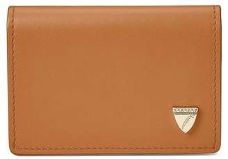 Aspinal of London Accordion Zipped Credit Card Holder In Smooth Natural Tan