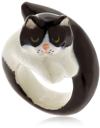 Nach Black & White Persian Cat Ring