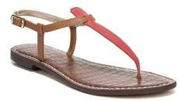 Sam Edelman Gigi Leather Ankle-Strap Thong Sandals