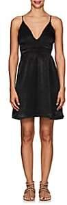 FiveSeventyFive Women's V-Neck Charmeuse Minidress - Black