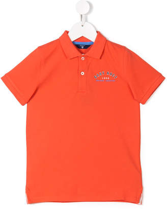 Gant Kids logo embroidered polo shirt