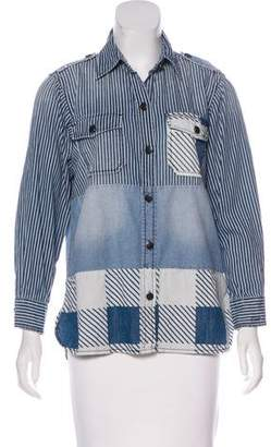 Current/Elliott Denim Patchwork Top