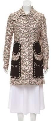 Giambattista Valli Embellished Jacquard Coat