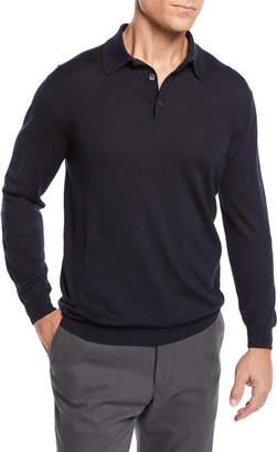 Ermenegildo Zegna Men's Cashmere Polo Sweater