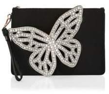 Sophia Webster Flossy Leather Butterfly Pouchette