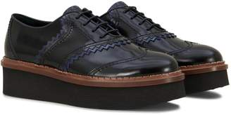 Tod's Lace-up In Semi-shiny Leather