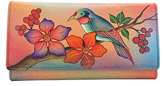 Anuschka Anna by Hand Painted Leather   Checkbook Wallet/Clutch  