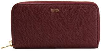 Tom Ford logo stamp zip wallet