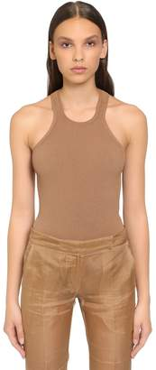 Max Mara Viscose Rib Knit Tank Top
