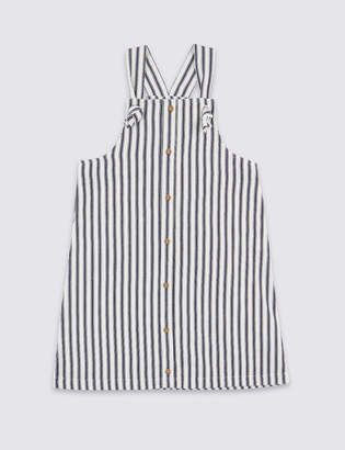 Marks and Spencer Pure Cotton Striped Pinafore (3-16 Years)