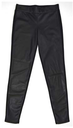 Tractr Faux Leather Ponte Skinny Pants