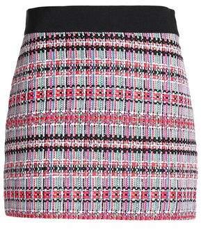 Milly Grosgrain-Trimmed Tweed Mini Skirt