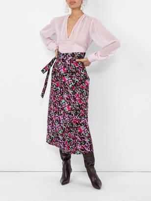 Marni Floral print wrap skirt