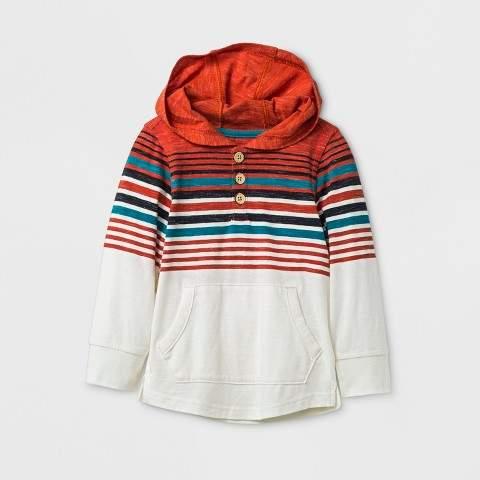 Genuine Kids from OshKosh Toddler Boys' Genuine Kids from OshKosh® Henley Long Sleeve Hoodie - Red