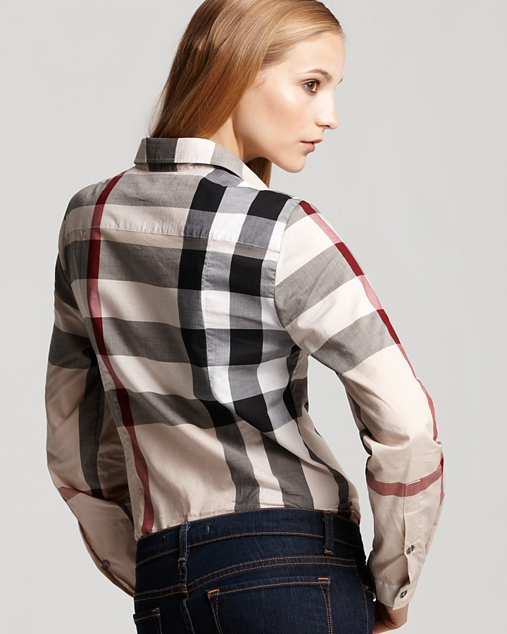 Burberry Exploded Check Button Down Woven Shirt