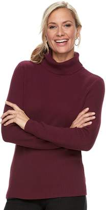 Croft & Barrow Women's Ribbed Turtleneck Sweater
